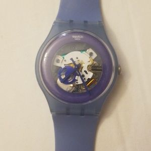 Blue Swatch Watch